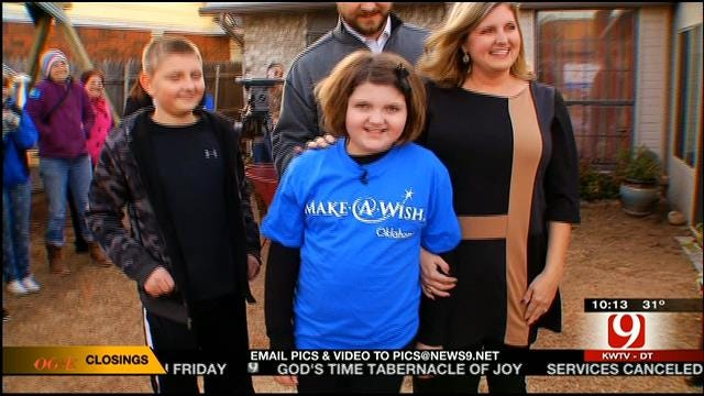 Make A Wish Oklahoma Comes Through For Norman Girl