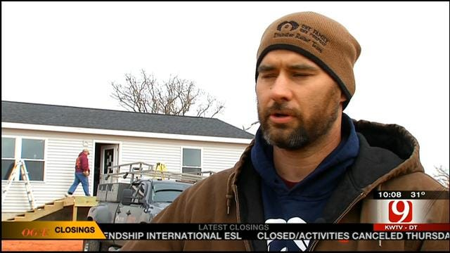 Volunteer Group From Illinois Builds Home For Little Axe Tornado Victim