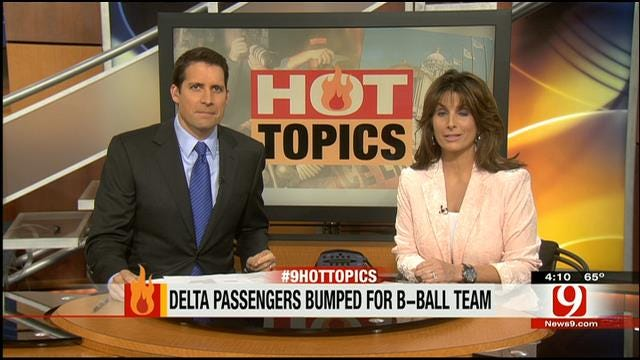 Hot Topics: Delta Bumps Passengers For Basketball Team