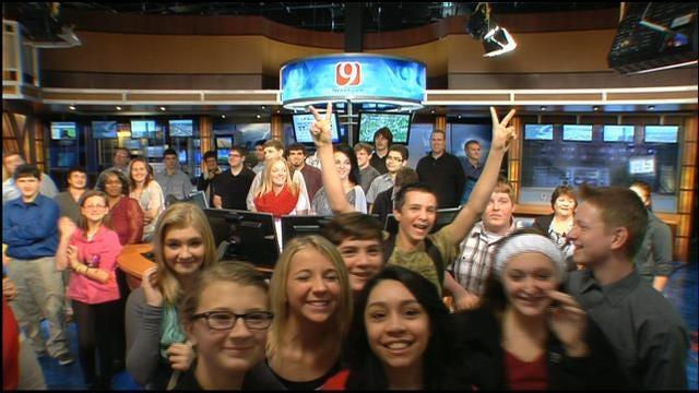Ponca City Students Visit News 9