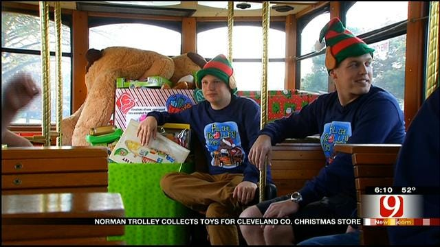 Norman Trolley Collects Toys For Cleveland Co. Christmas Store