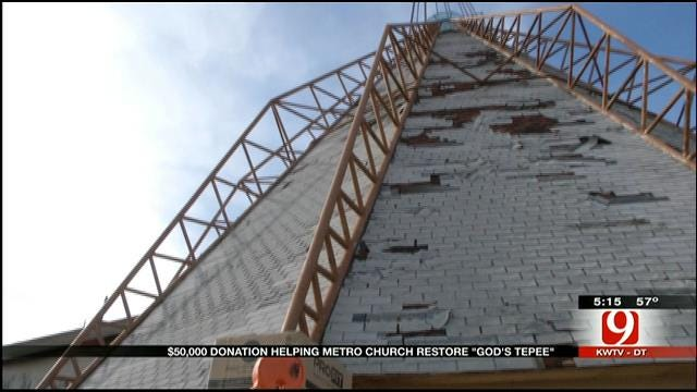 OKC Church Receives $50K Donation To Restore 'God's Tepee'