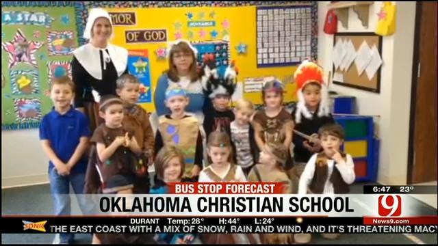Jed's Bus Stop Forecast For Wednesday, November 27: Oklahoma Christian School