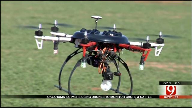 Oklahoma Farmers Use Drones To Monitor Crops, Cattle