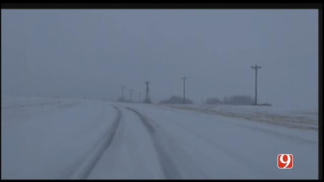 Marty Logan Tracking Winter Storm Near Elk City