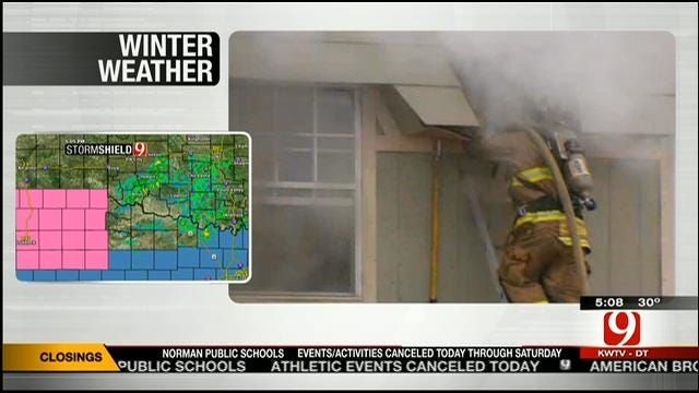 Fire Guts Northwest OKC Apartment Complex