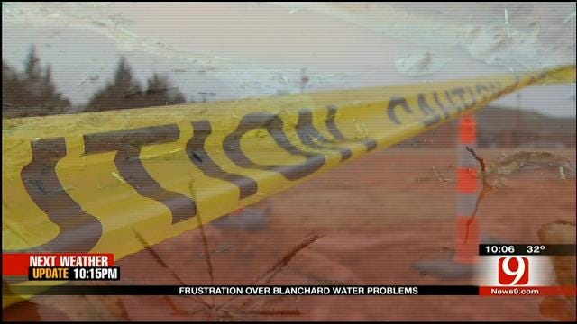 Ruptured Water Line Irks Blanchard Business Owners