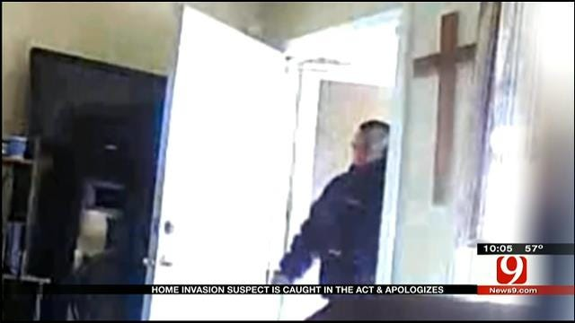 OKC Police Hope Surveillance Video Helps Catch 'Apologetic' Burglar