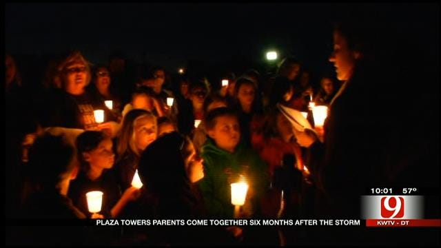 Vigil Held At The Site Of Plaza Towers Elementary