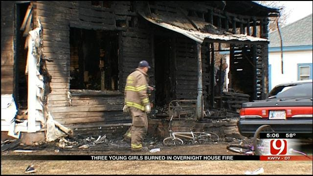 Three Girls Injured While Escaping Burning Home In Purcell
