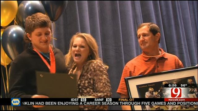 Kingfisher's Nault Named Finalist For High School Heisman