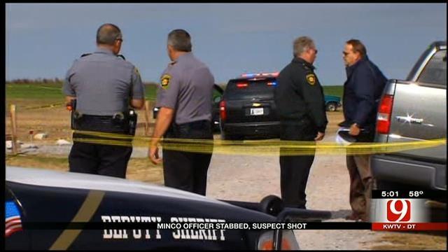Suspect Shot After Stabbing Minco Police Officer