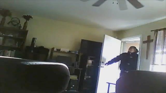 Caught On Camera: Man Breaks Into SW OKC Home