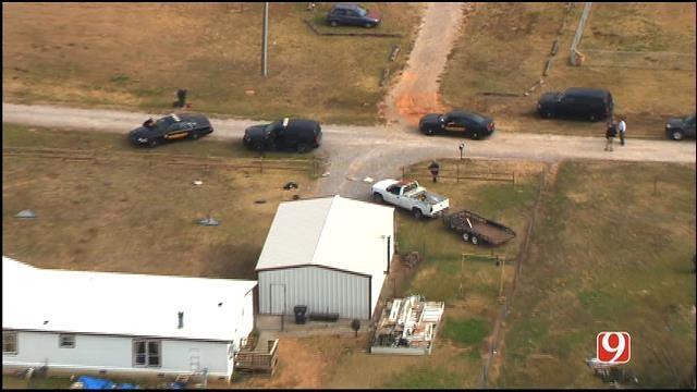 WEB EXTRA: SkyNews 9 Flies Over Scene Of Minco Officer Stabbing