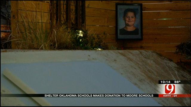 Mom Pleased By Money Donated For Moore School Shelters