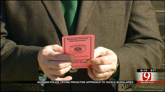 Norman Residents Differ On Police 'Pink Report Card' Program