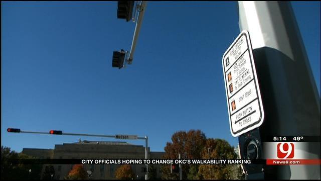 Oklahoma City Ranked Low In Walkability