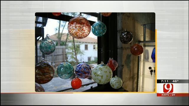 OK Firefighter Creates Blown Glass Ornaments, Sculptures
