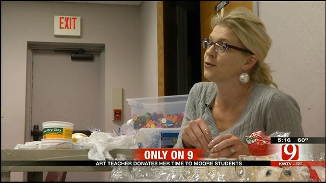 Moore Teacher Doing More With Less To Bring Art Back to School