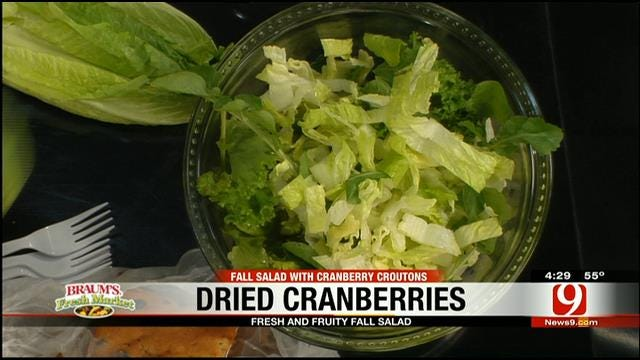 Fall Salad with Cranberry Croutons