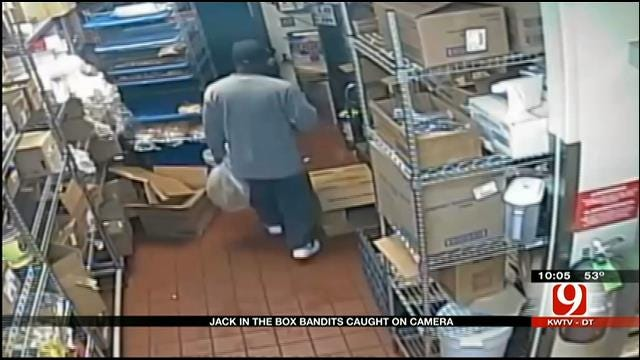 Caught On Tape: Two Men Rob 'Jack In The Box' In Edmond At Gunpoint