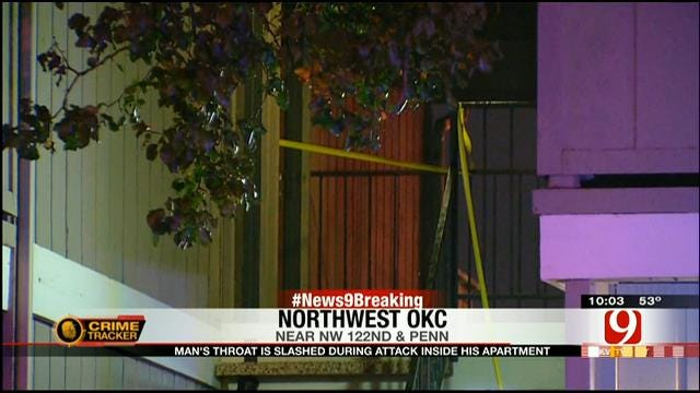 Police: Man's Throat Slashed During Attack At NW OKC Apartment
