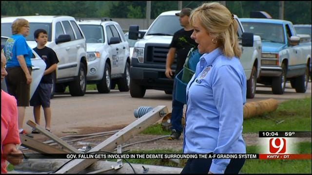 Governor Fallin Stands By A-F Grading System