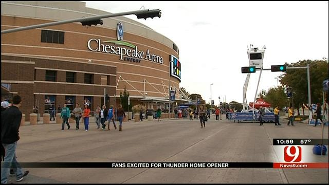 Fans Out In Droves For Thunder Home Opener