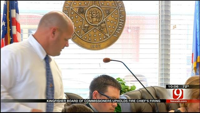 City Of Kingfisher Upholds Fire Chief's Firing