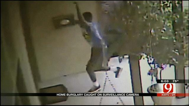 Police: Thieves Caught On Tape Breaking Into SW OKC Home
