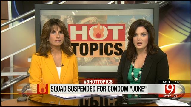 Hot Topics: Squad Suspended For Condom 'Joke'