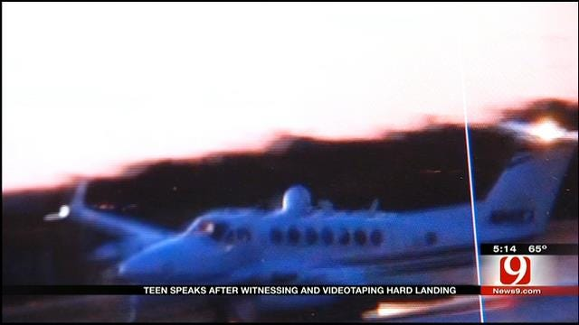 Teen Catches Plane's Hard Landing At Wiley Post Airport On Camera