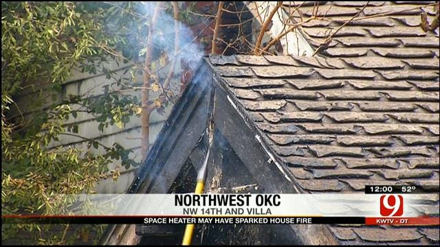 Space Heater May Have Sparked Northwest OKC House Fire