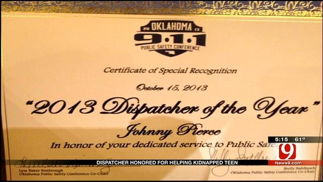 OK Dispatcher Honored For Saving Young Human Trafficking Victim