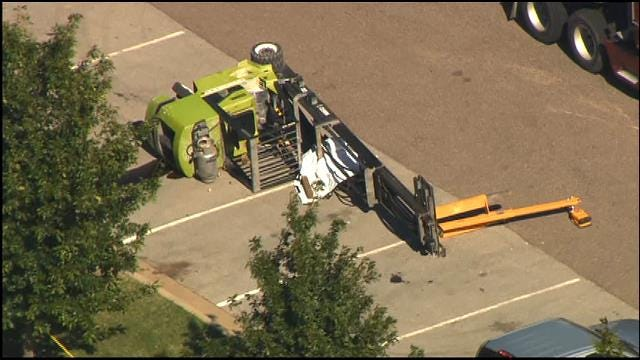 WEB EXTRA: SkyNews 9 Flies Over Fatal Industrial Accident In OKC
