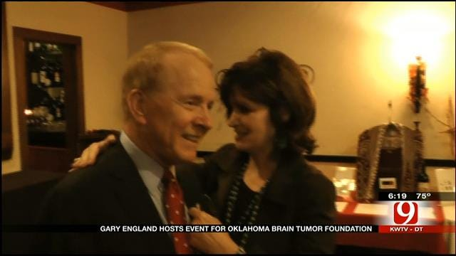 Gary England Hosts Wine Tasting, Auction For OK Brain Tumor Assoc.