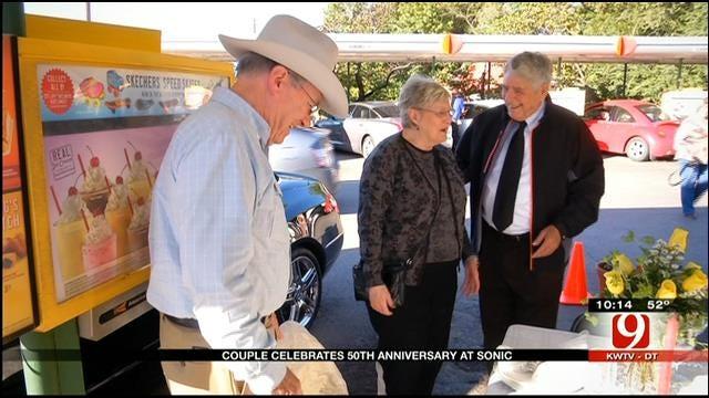 Couple Celebrates 50th Anniversary At Stillwater Sonic