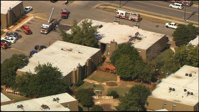 WEB EXTRA: SkyNews 9 Flies Over Cut Gas Line In NW OKC