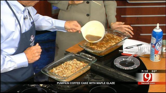 Made In Oklahoma: Pumpkin Coffee Cake with Maple Glaze