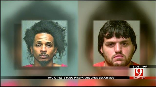 OKC Police Arrest Two Men In Separate Child Sex Crimes Cases