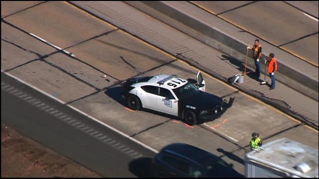 WEB EXTRA: Trooper Involved Accident Shuts Down NB I-44 Near Chickasha
