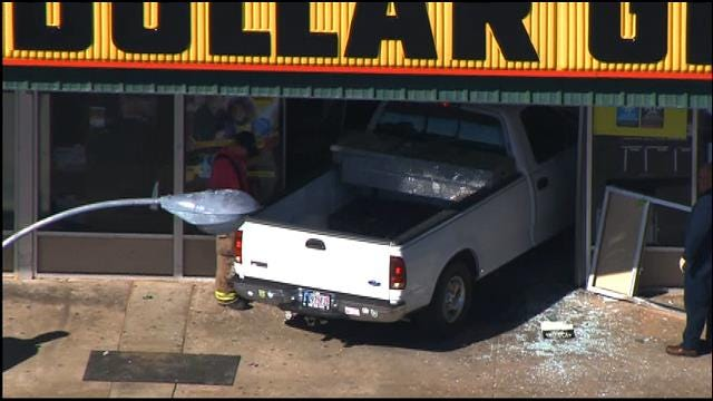 WEB EXTRA: Pickup Removed From Choctaw Dollar General Store