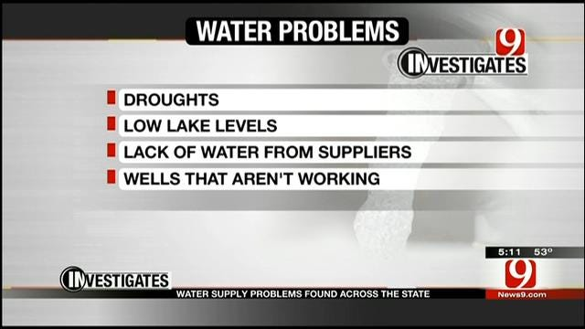 9 Investigates Water Supply Problems Throughout Oklahoma