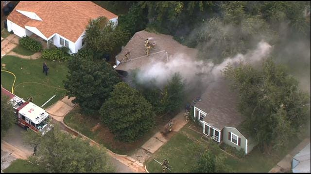 WEB EXTRA: Firefighters Battle House Fire In NW OKC