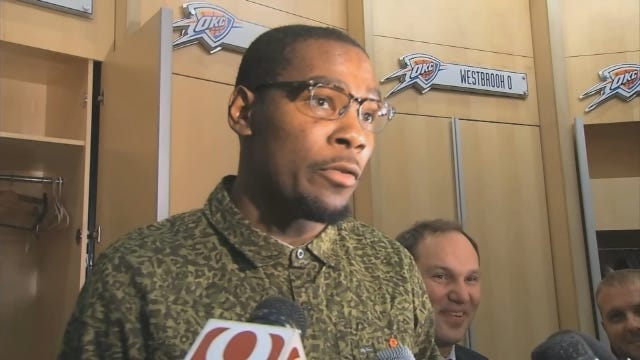 Durant Discusses Playing Weight