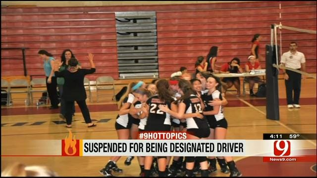 Hot Topics: Suspended For Being Designated Driver