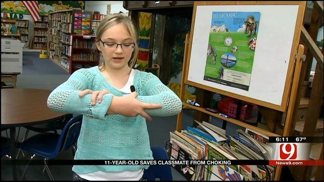 Enid Girl Hailed As Hero For Saving Classmate's Life