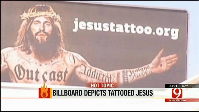 Hot Topics: Billboard Depicts Tattooed Jesus