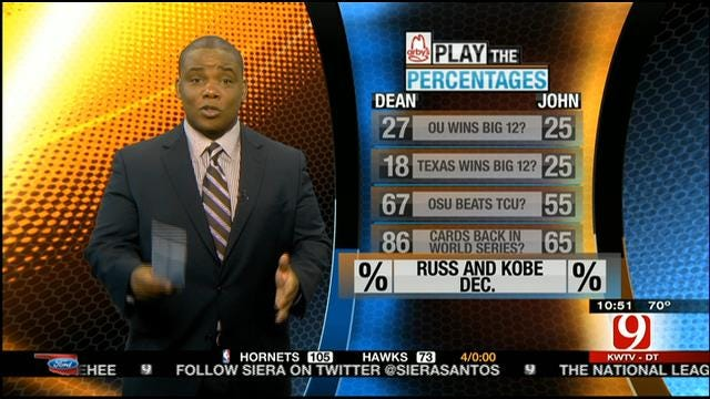Play The Percentages: Oct. 13