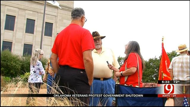 Oklahoma Veterans Protest Against Government Shutdown